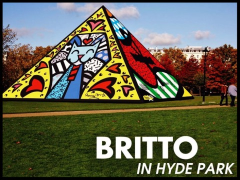 Paris Art Web - Romero Britto - Hyde Park Pyramid
