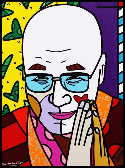 Paris Art Web - Romero Britto - Original Paintings - Portraits - Dalai Lama