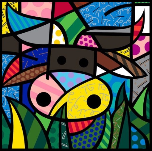Paris Art Web - Romero Britto - Fine Art Prints - My Cow