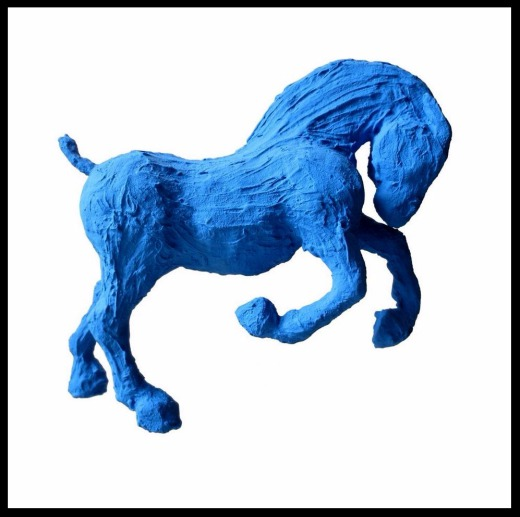 1 - Paris Art Web - Sculpture - Saone De Stalh - Small Horse Series - Nuharah 1