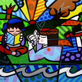 Paris Art Web - Romero Britto - Fine Art Print