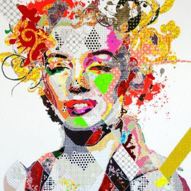 Paris Art Web - Painting - Pinar Du Pre - Snapshots - Marilyn I