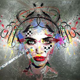 Paris Art Web - Painting - Pinar Du Pre - Snapshots - Melinoe Silver