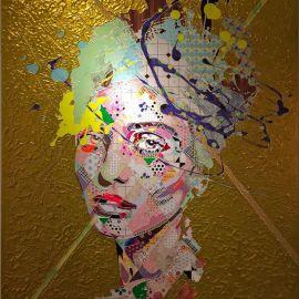 Paris Art Web - Painting - Pinar Du Pre - Snapshots - Zephyr Gold